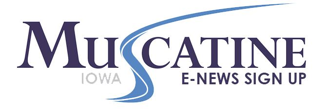 Muscatine CVB E-News Sign up logo